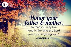 Image result for honor your father and your mother